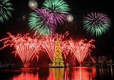 Kerstboom van Rodrigo de Freitas Lagoon Royalty-vrije Stock Afbeelding