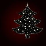 Kerstboom van Sterlicht Royalty-vrije Stock Foto