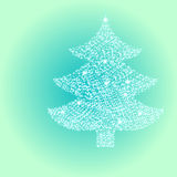 Kerstboom van Sterlicht Royalty-vrije Stock Foto's