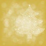 Kerstboom van Sterlicht Stock Fotografie