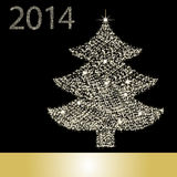 Kerstboom van Sterlicht Stock Foto's