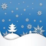 Kerstboom van stukken van Witboek wordt gemaakt dat Stock Afbeelding