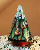 Kerstboom van tin wordt gemaakt dat Royalty-vrije Stock Fotografie
