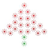 Kerstboom van vorken wordt gemaakt die Royalty-vrije Stock Fotografie