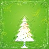 Kerstboom, vector Stock Foto