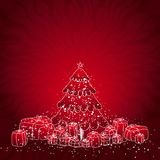 Kerstboom, vector Royalty-vrije Stock Fotografie