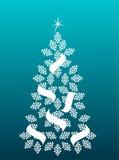 Kerstboom - vectorillustratie Stock Fotografie
