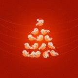 Kerstboom. Vectorillustratie Royalty-vrije Stock Afbeeldingen