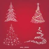 Kerstboom, vectorillustratie Stock Afbeeldingen