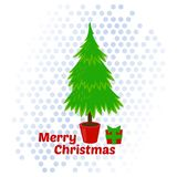Kerstboom Vectorillustratie Stock Fotografie
