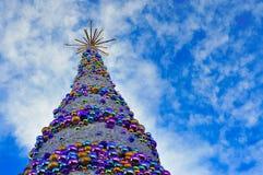 Kerstboom in Wroclaw 2017 royalty-vrije stock afbeelding