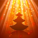 Kerstboomachtergrond Stock Afbeelding