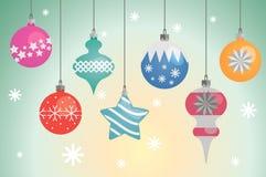 Kerstboombollen (decoratie) voor uw ontwerp Stock Fotografie