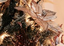 Kerstboomclose-up - detail stock foto's