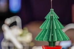 Kerstboomdocument ambacht voor decoratie stock foto's