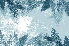 Kerstboomkegel die vector de wintertexturen schilderen royalty-vrije stock foto