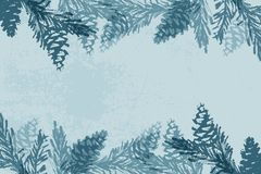 Kerstboomkegel die vector de wintertexturen schilderen stock foto