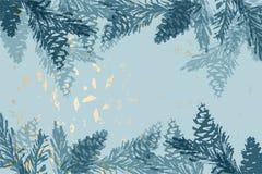 Kerstboomkegel die vector de wintertexturen schilderen stock fotografie