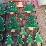 Kerstboomkoekjes Stock Afbeelding