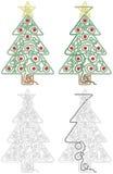 Kerstboomlabyrint royalty-vrije illustratie