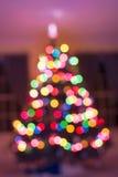 Kerstboomlicht bokeh voor achtergrond Royalty-vrije Stock Fotografie