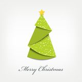 Kerstboomorigami Stock Foto's