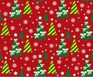 Kerstboompatroon stock illustratie