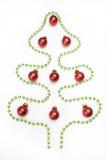 Kerstboomprentbriefkaar Stock Foto's