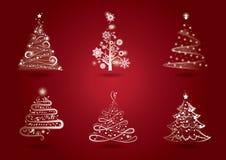 Kerstboomreeks Stock Foto's
