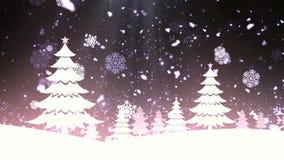 Kerstboomsneeuw 2 stock videobeelden
