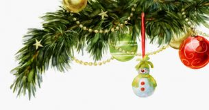Kerstboomtak Royalty-vrije Stock Foto