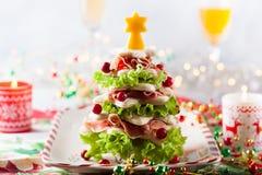 Kerstboomvoorgerecht royalty-vrije stock afbeelding