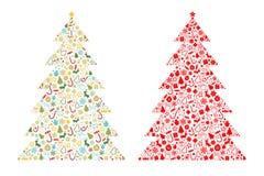 Kerstboomvorm stock illustratie