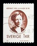 Kerstin Hesselgren kvinnors rösträtt, serie, circa 1971 Royaltyfria Foton