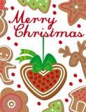 Kerstkaart Royalty-vrije Stock Afbeelding