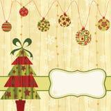 Kerstkaart royalty-vrije illustratie