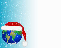 Kerstkaart in aarde stock illustratie