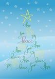 Kerstkaart of achtergrond stock illustratie