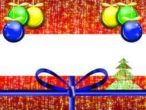 Kerstkaart, gift Royalty-vrije Stock Afbeelding