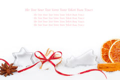 Kerstkaart, het bakken recept, Giftcertificaat Stock Foto