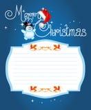 Kerstkaart. Het vrolijke van letters voorzien van Kerstmis Stock Foto's