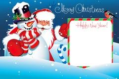 Kerstkaart. Het vrolijke van letters voorzien van Kerstmis Stock Afbeelding
