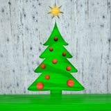 Kerstkaart, Kerstboomballen Stock Foto's
