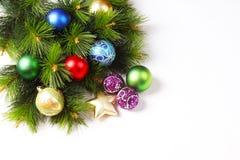 Kerstkaart, Kerstmisgrens Stock Foto