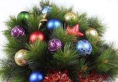 Kerstkaart, Kerstmisgrens Stock Foto's