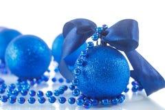 Kerstkaart met ballen Stock Foto