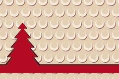 Kerstkaart met boom en retro achtergrond Royalty-vrije Stock Foto's