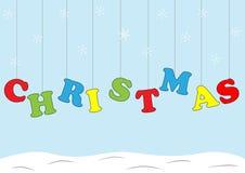 Kerstkaart met brieven Stock Afbeelding