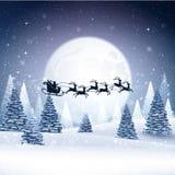 Kerstkaart met de Kerstman Royalty-vrije Stock Fotografie