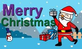 Kerstkaart met de Kerstman Royalty-vrije Stock Foto's